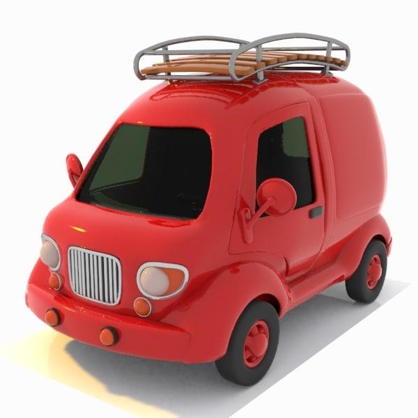 travel toon car 3d 3ds