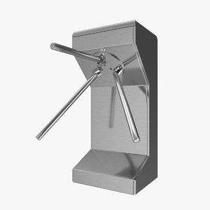 turnstile turn stile 3d model