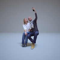 couple in love selfie