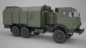 kamaz 5350 3d model