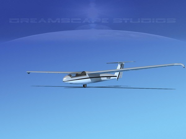 3d model of letov sailplane