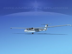 3d model of letov sailplane