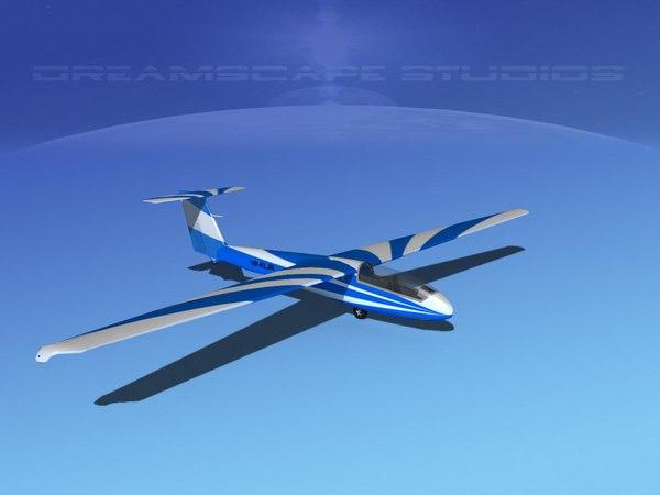 3d model letov sailplane
