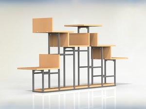 solidworks shelf assembly parts 3d 3ds