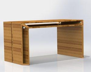 3d solidworks futuristic table
