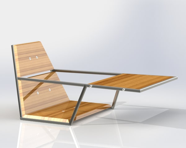 3ds solidworks futuristic chair table