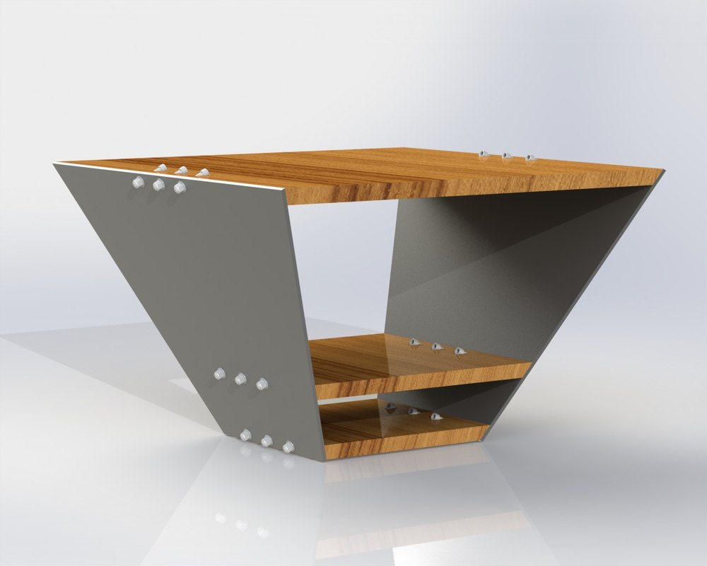 solidworks minimalist wood table 3d 3ds