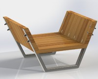 Minimalist Chair Sensei (Solidworks detailed parts assembly_