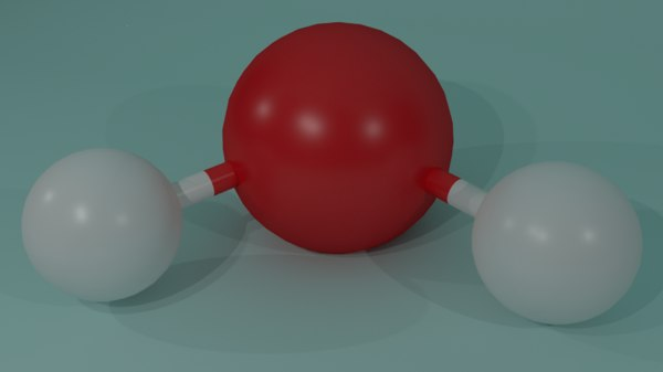 3d model water molecule -