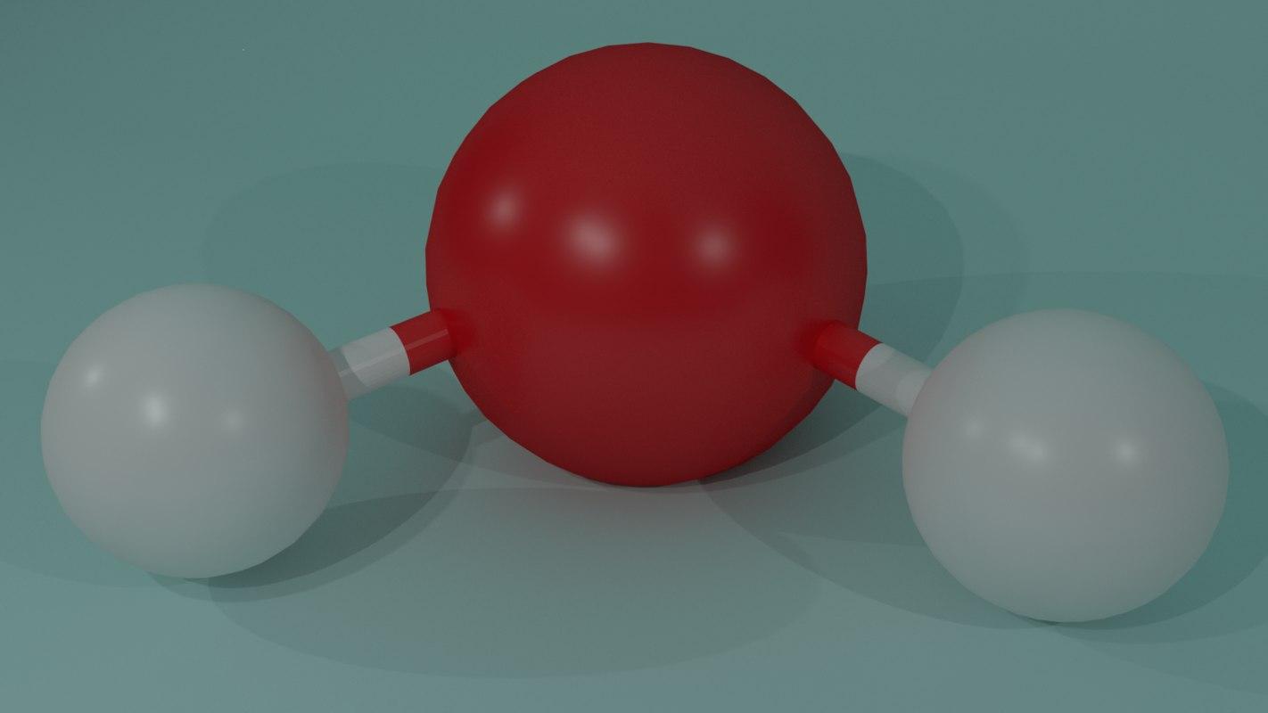 3d model water molecule -