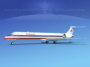 3d model md-87 airliners