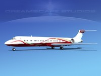 md-87 md-80s jet 3d model