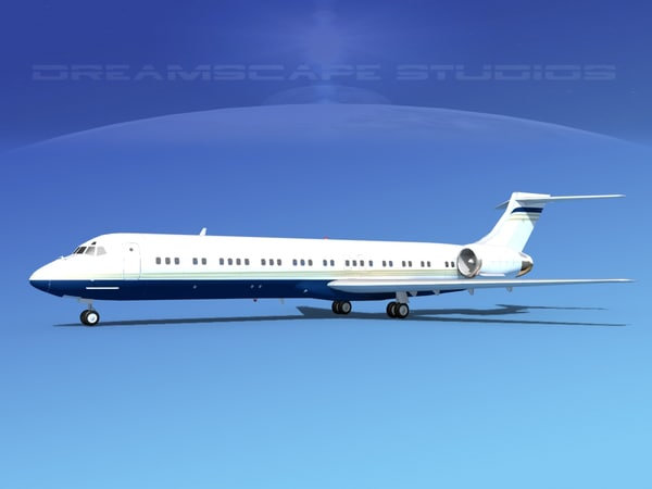 md-87 md-80s jet 3d max