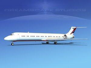 3d model md-87 md-80s jet