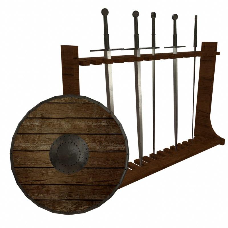 3d medieval weapon model
