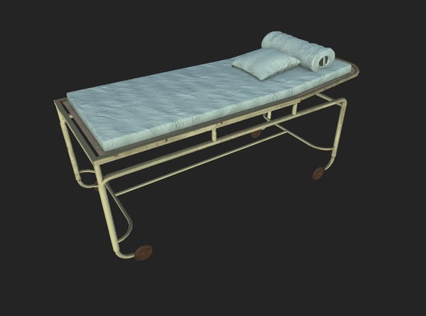 abandoned surgical bed 3d model