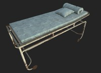 abandoned surgical bed 02 3d model