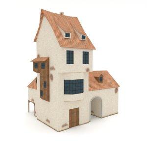 medieval house blacksmiths buildings 3d fbx
