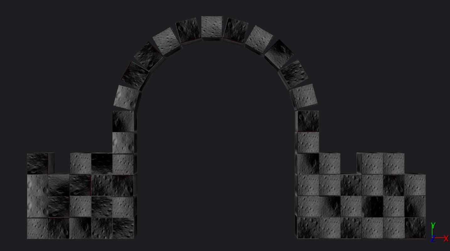 fbx historic stone gate