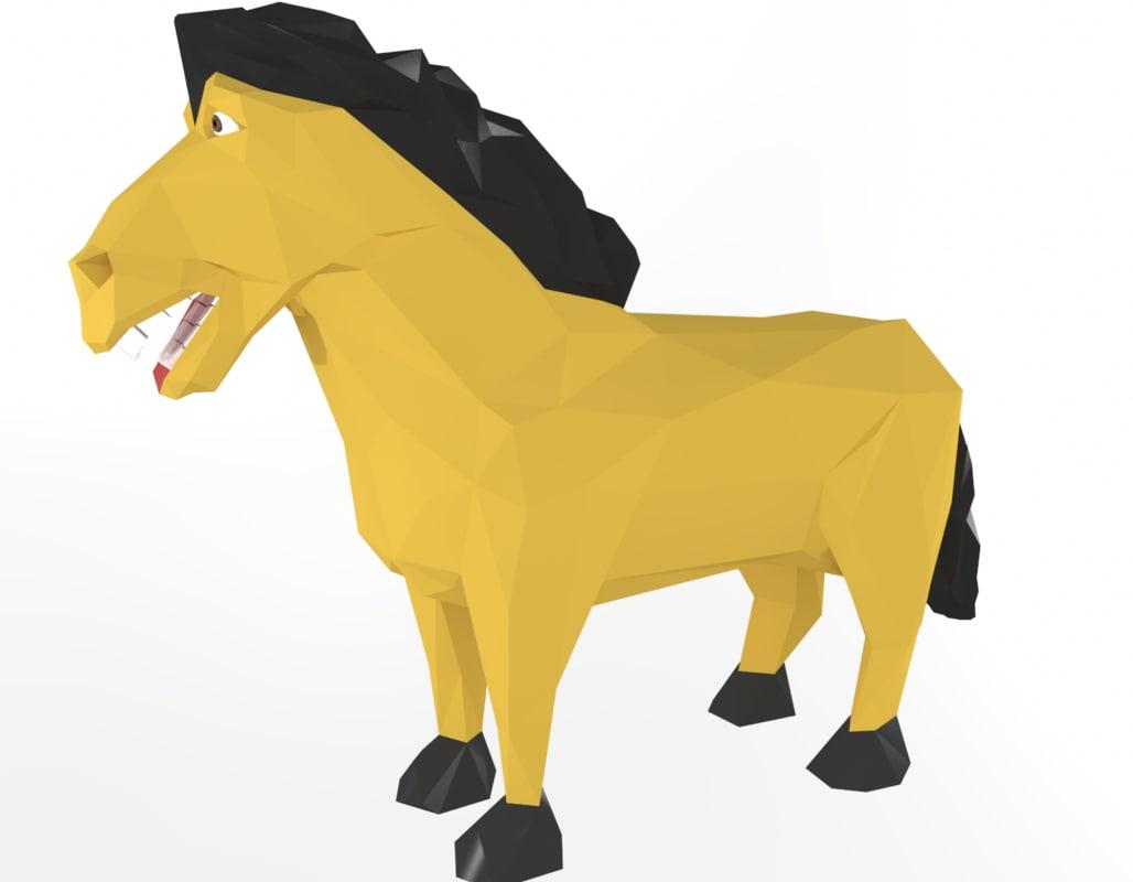sculptris horse 3d model