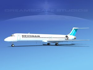 md-87 md-80s jet 3ds