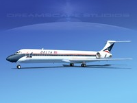 md-87 airliners 3d max