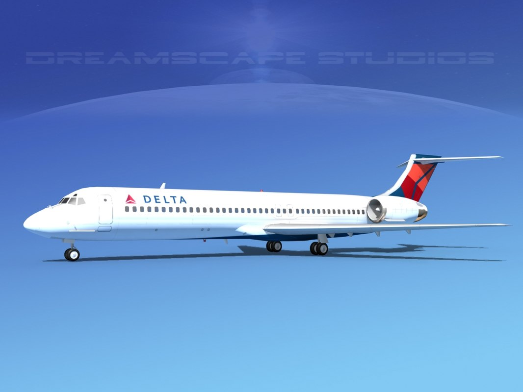 md-87 airliners 3d 3ds