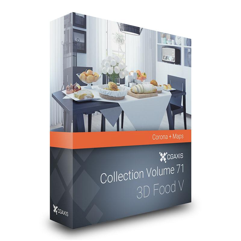 volume 71 food v 3d model