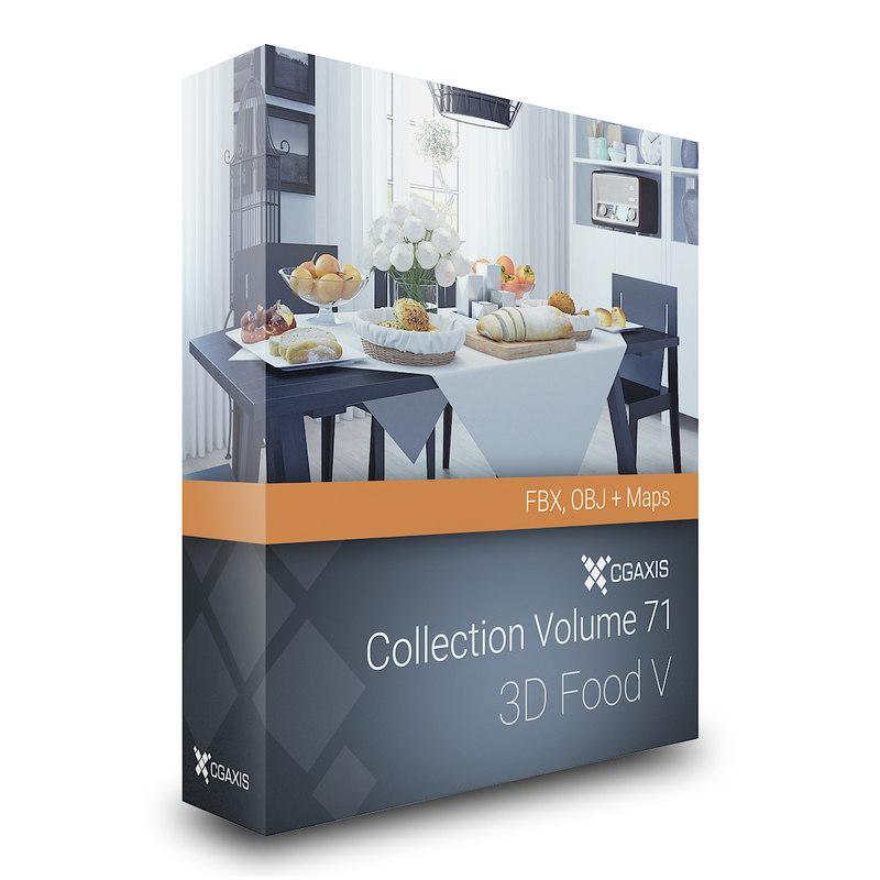 volume 71 food v 3d obj