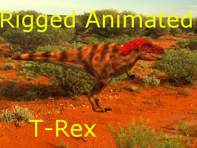 trex rigged animate modelled 3ds