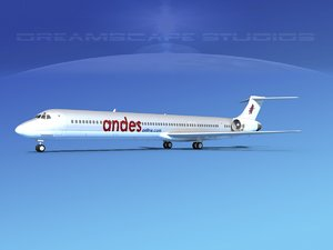 md-90 jet commercial 3d obj