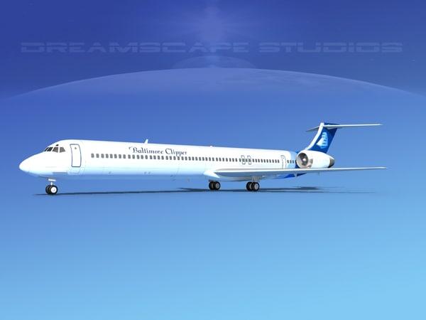 md-90 jet commercial 3d 3ds