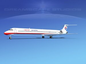 md-90 jet commercial 3d 3ds