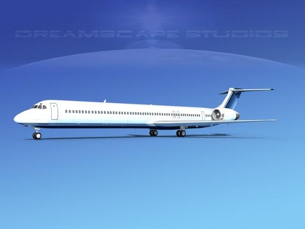 3d model md-90 jet commercial
