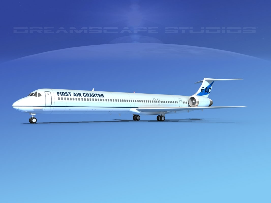 3d model md-90 jet commercial