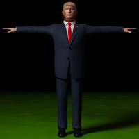 president trump 3d lwo
