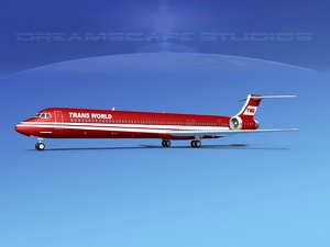 md-90 jet commercial 3d model