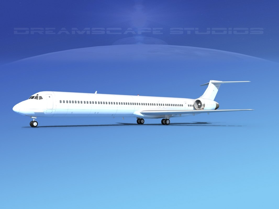 3d model of md-90 jet commercial
