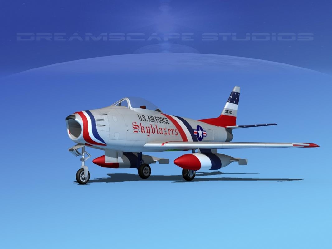 3ds north american f-86 sabre
