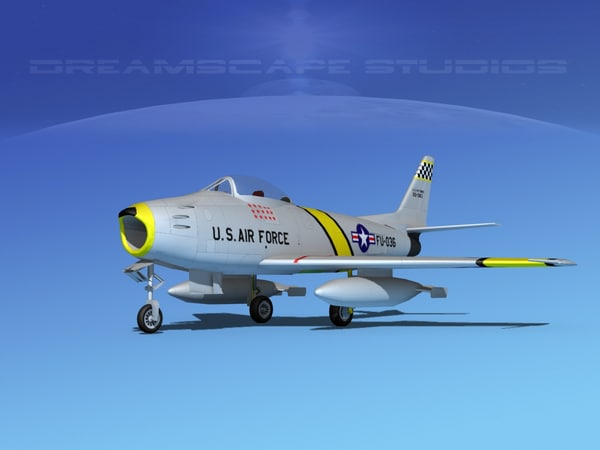 3d model north american f-86 sabre