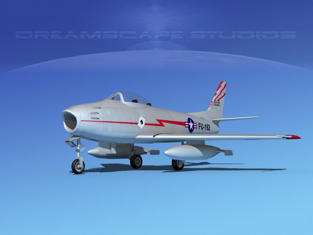 3d 3ds north american f-86 sabre
