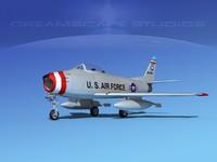 north american f-86 sabre 3d max