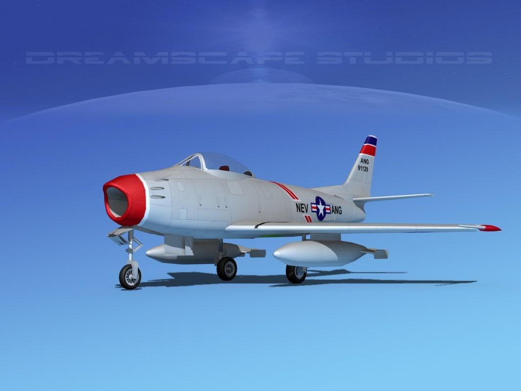 north american f-86 sabre 3d 3ds