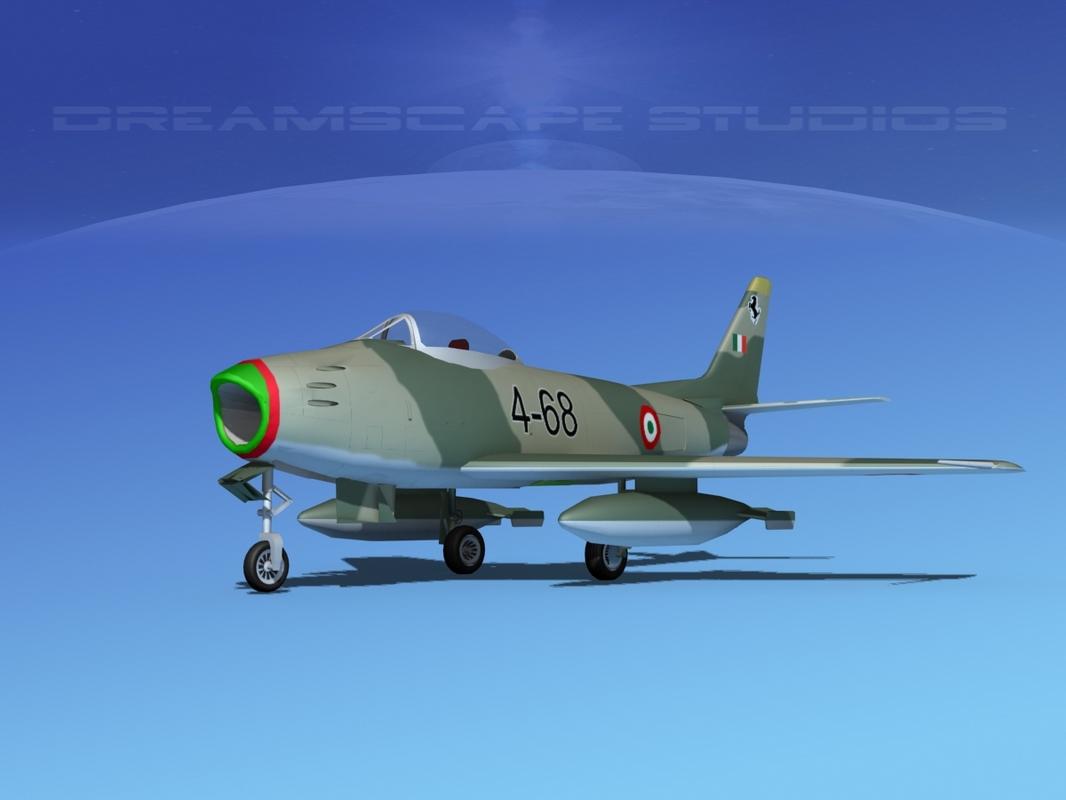 3d model north american f-86 sabre