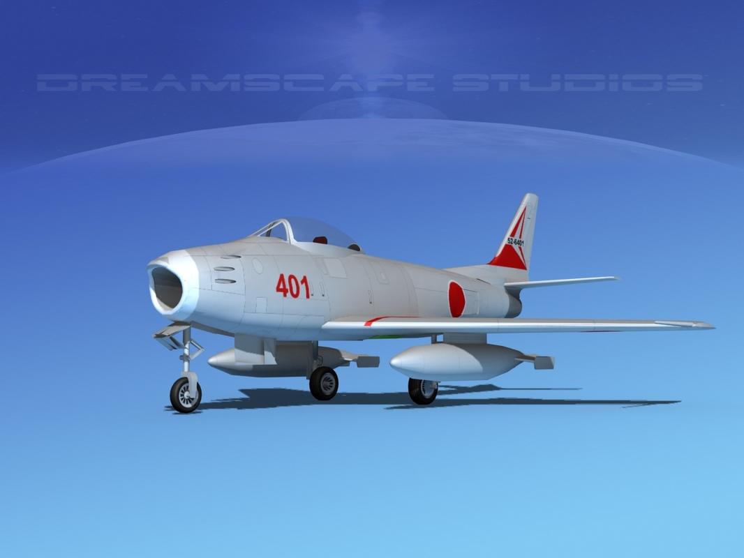3d north american f-86 sabre