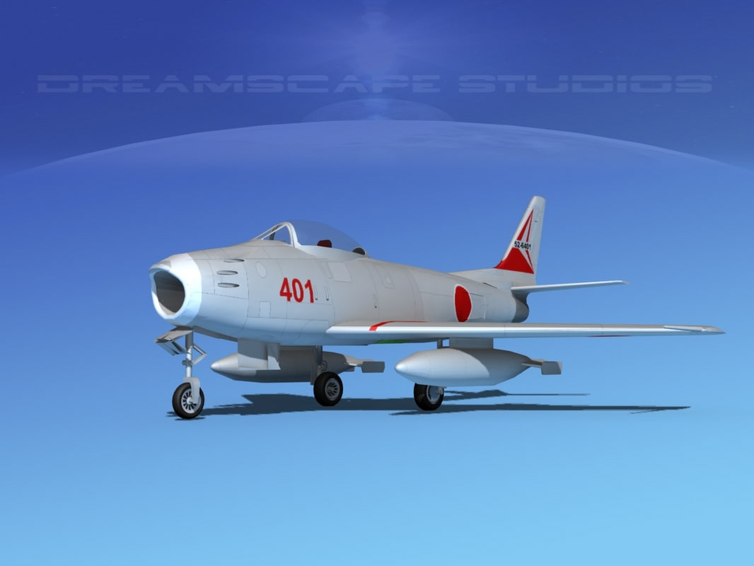 3d north american f-86 sabre