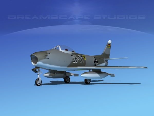 north american f-86 sabre 3d 3ds