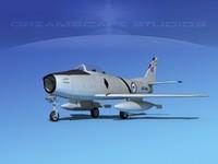 north american f-86 sabre dxf