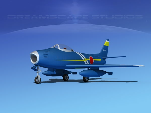 north american f-86 sabre 3d dwg