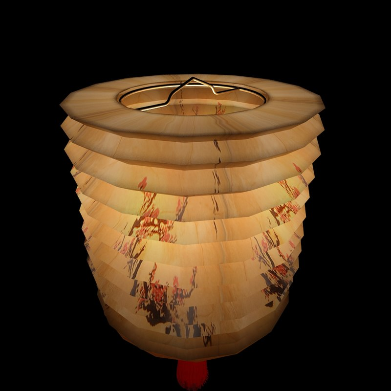 chinesered lantern red 3d model